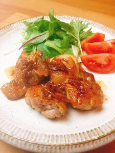 酢生姜で作る鳥もも肉ジンジャーステーキ